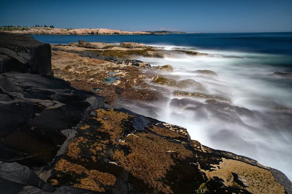 Ghost Waves at Schoodic Point - Acadia National Park fine-art photography prints