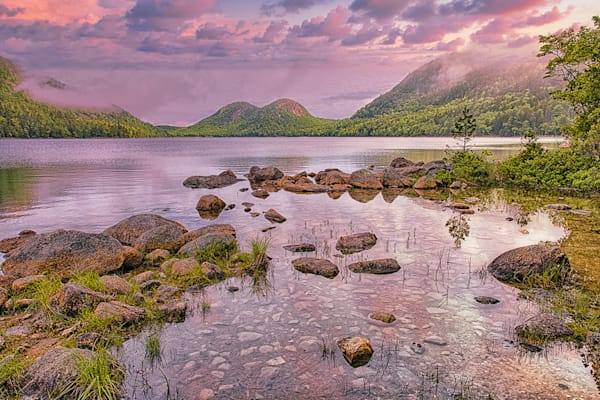 The Bubbles Jordon Pond, Acadia National Park Photography Art | http://www.mooseprintsgallery.com