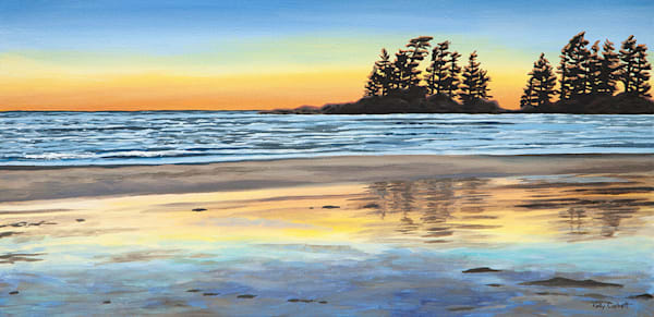 Salient, 12x24, acrylic on canvas, inspired by Tofino BC