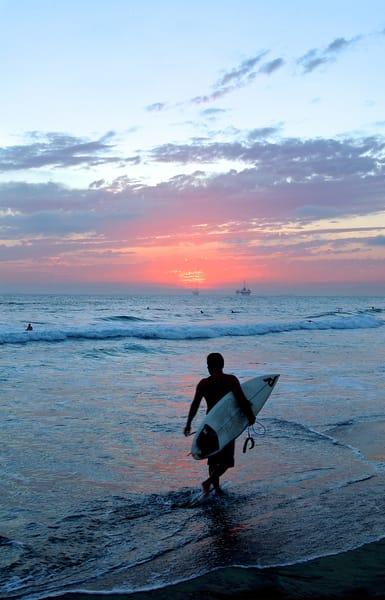 Sunset Surfer 2004 Art   Shaun McGrath Photography