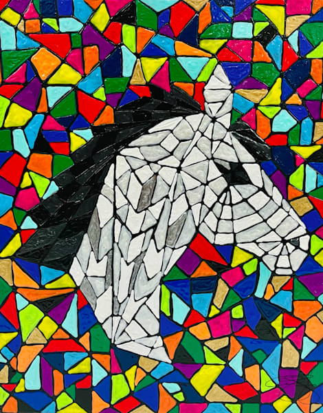 Horse Mosaic Art   Anthony Joseph Art Gallery