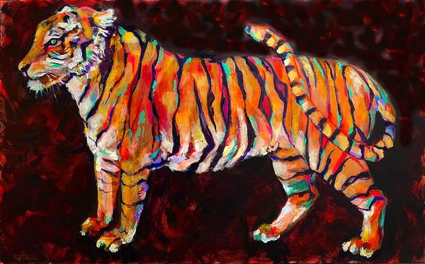 Tiger On The Prowl Art   Rick Osborn Art
