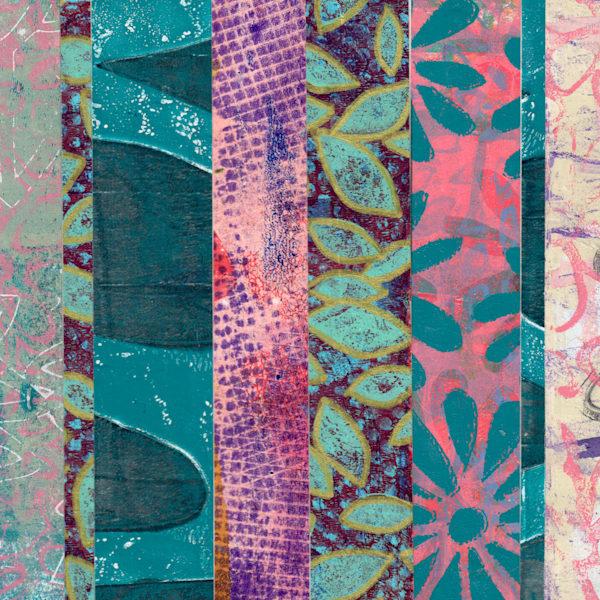 Blue Stripes Art | Jennifer Akkermans