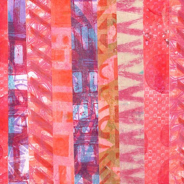 Pink Stripes Art | Jennifer Akkermans