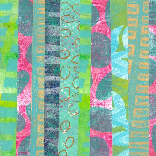 Teal Stripes Art | Jennifer Akkermans