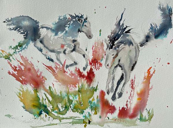 Feeling Their Oats Art | Color Splash Ranch
