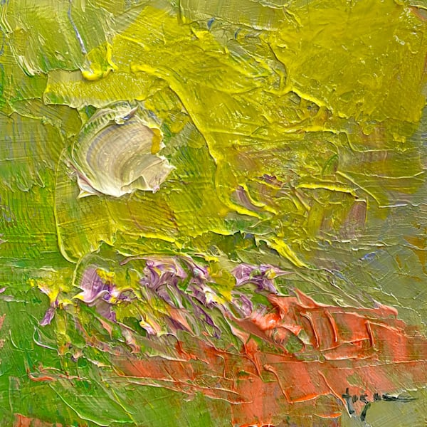 Small Lime Green Original Abstract