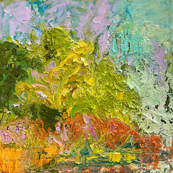 Small textured pastel vertical abstract by Dorothy Fagan