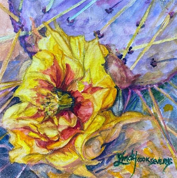 Lindy Cook Severns Art | Prickly Perfection, original watercolor