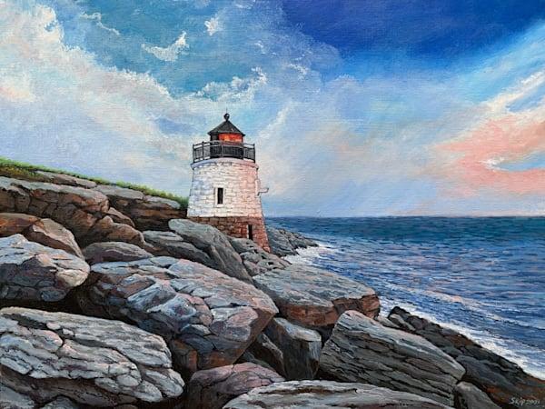Newport Lighthouse Art   Skip Marsh Art