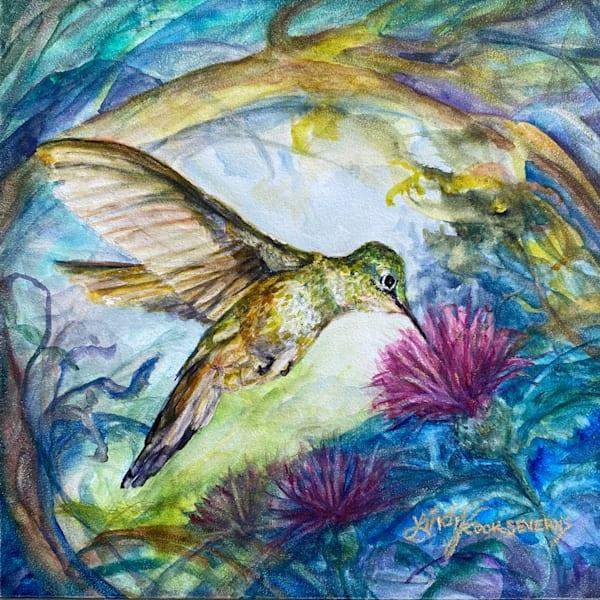 Lindy Cook Severns Art | Wings to a Hidden World, original watercolor