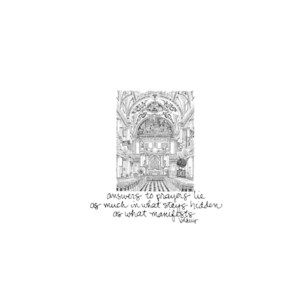st. louis cathedral, new orleans (interior):  tiny haiku art prints in elegant pen available for purchase online