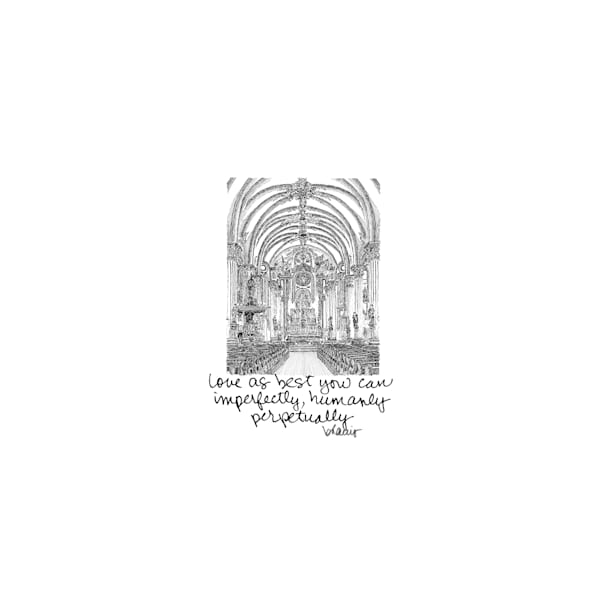 st. mary's assumption church, new orleans:  tiny haiku art prints in elegant pen available for purchase online