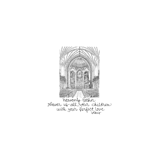 st. patrick church, new orleans:  tiny haiku art prints in elegant pen available for purchase online