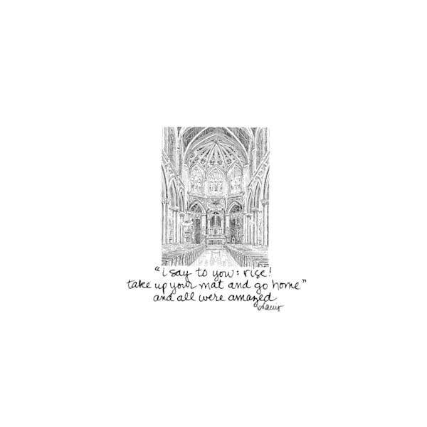 holy name of jesus church, new orleans:  tiny haiku art prints in elegant pen available for purchase online