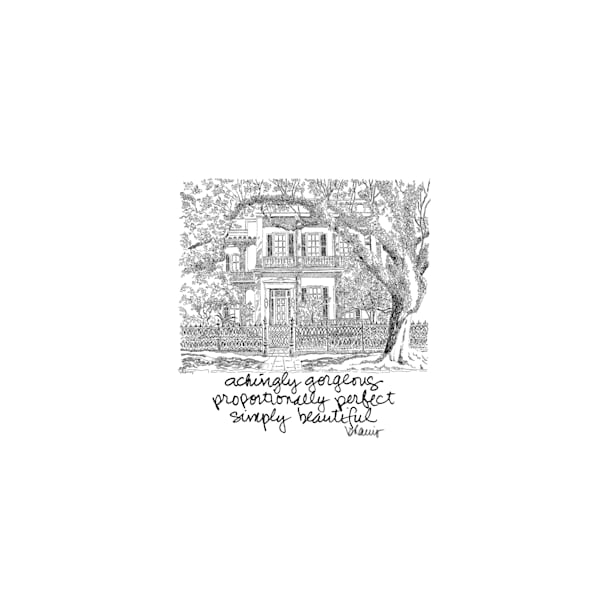 """""""anne rice house,"""" garden district, new orleans:  tiny haiku art prints in elegant pen available for purchase online"""