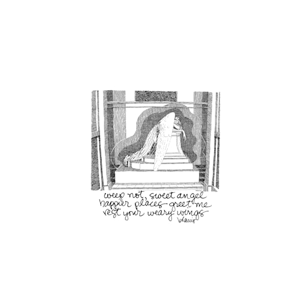 metairie cemetery, new orleans:  tiny haiku art prints in elegant pen available for purchase online