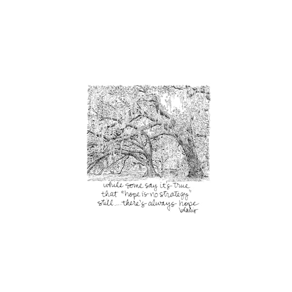 old oak grove (fountain) city park, new orleans:  tiny haiku art prints in elegant pen available for purchase online