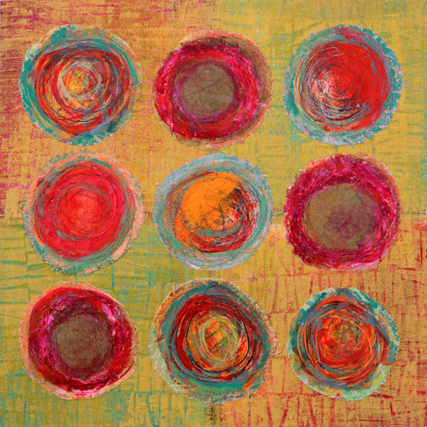 Nine-Ball Pool - Original Abstract Painting   Cynthia Coldren Fine Art