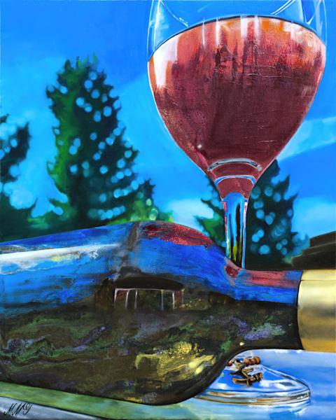 Wine Pour 2 | Original Mixed Media Painting Art | MMG Art Studio | Fine Art Colorado Gallery