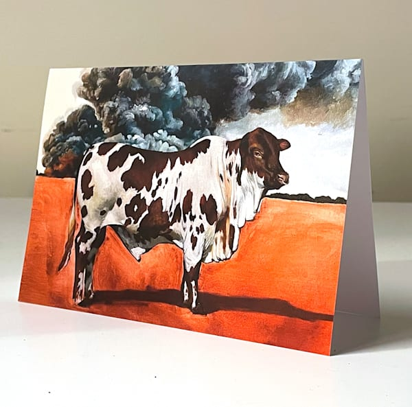 Spotted Bull Greeting Card | Kym Day Studio