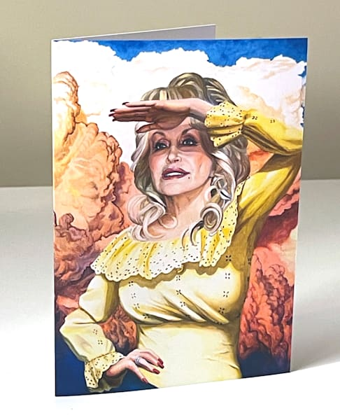 Dolly Looks Into The Future Greeting Card | Kym Day Studio