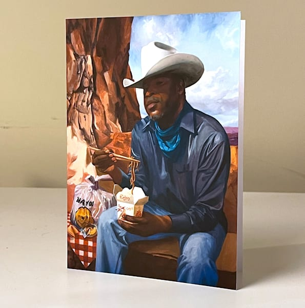 Cowboy Picnics In The Canyon Greeting Card | Kym Day Studio