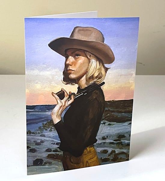 Cowgirl Pistol Greeting Card | Kym Day Studio