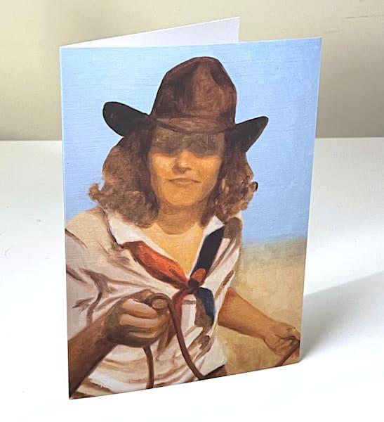 Cowboy Study 4 Greeting Card | Kym Day Studio