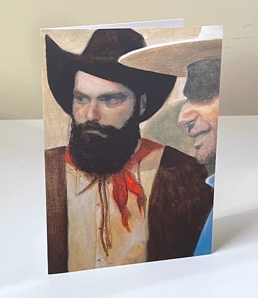 Cowboy Study 2 Greeting Card | Kym Day Studio