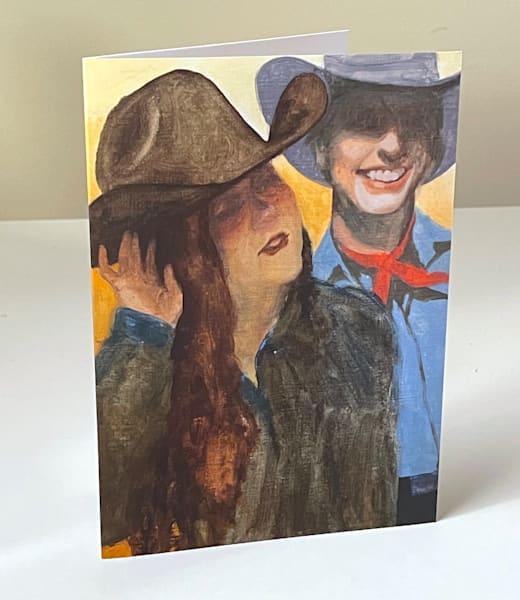 Cowboy Study 3 Greeting Card | Kym Day Studio