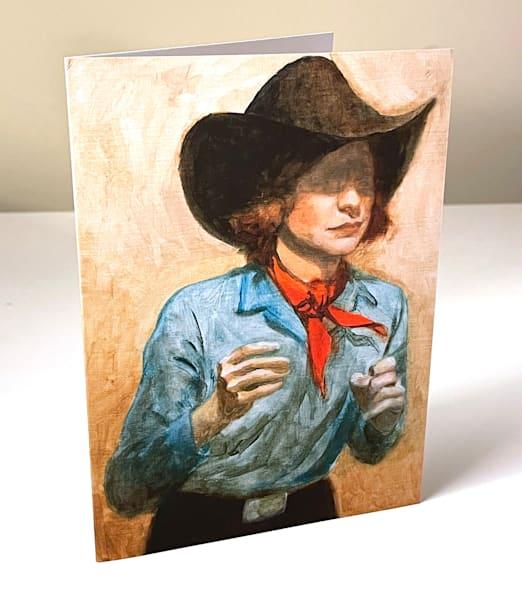 Cowboy Study 1 Greeting Card | Kym Day Studio