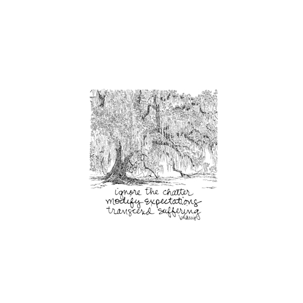 fontainebleau oak, northshore, new orleans:  tiny haiku art prints in elegant pen available for purchase online