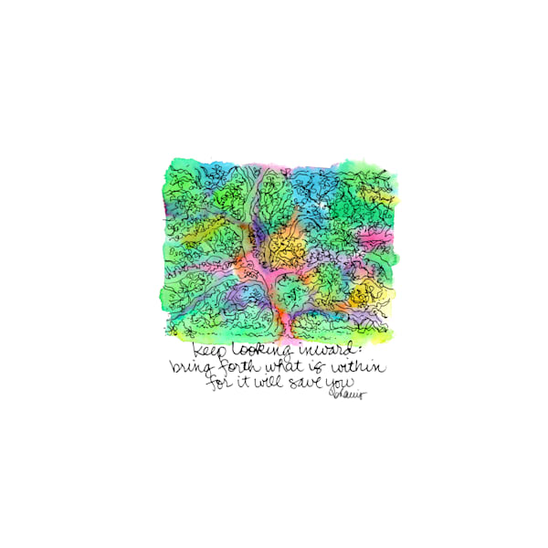 old louisiana state capitol (live oak tree), baton rouge:  tiny haiku art prints in cheerful watercolor available for purchase online