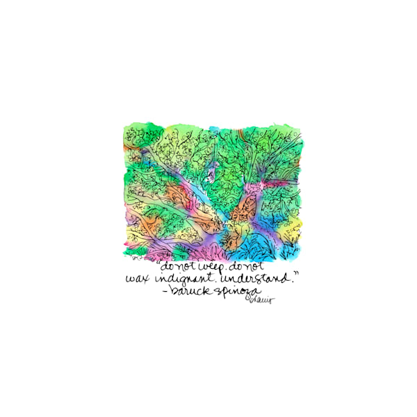 live oak, jungle gardens, avery island, louisiana:  tiny haiku art prints in cheerful watercolor available for purchase online