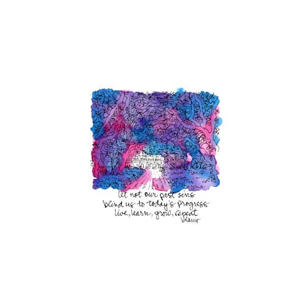 """whitney plantation, edgard, louisiana (""""after dark"""" collection):  tiny haiku art prints in atmospheric watercolor for sale online"""