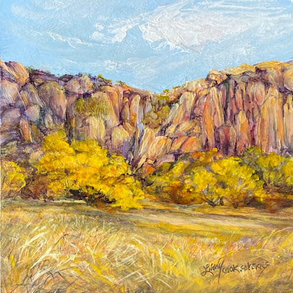Lindy Cook Severns Art | Anchored in Gold, original oil
