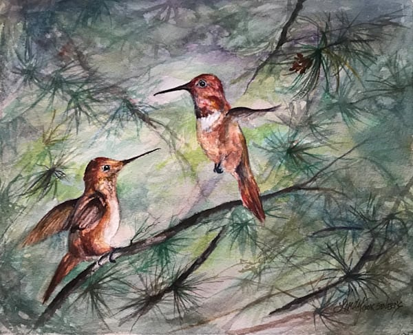 Lindy Cook Severns Art | Comparing Wing Spans, original watercolor