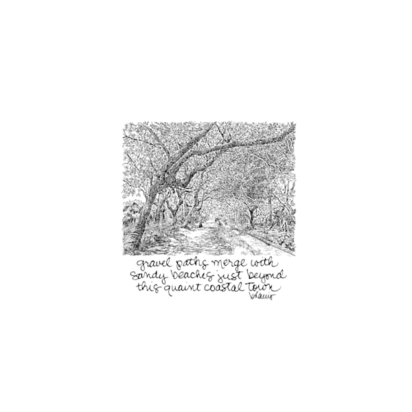cerulean park, watercolor (30a), florida:  tiny haiku art prints in elegant pen available for purchase online