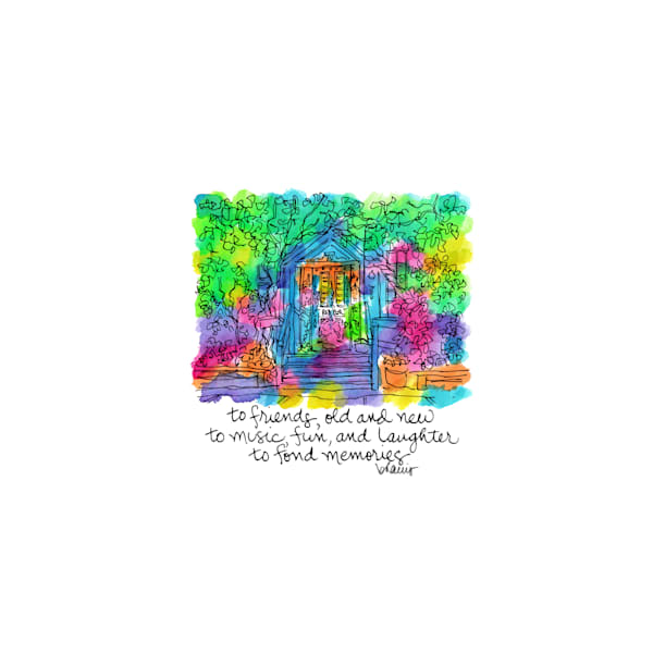 red bar, grayton beach (30a), florida:  tiny haiku art prints in cheerful watercolor available for purchase online