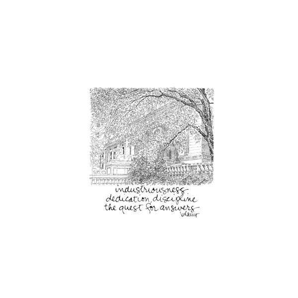 public library, new york city:  tiny haiku art prints in elegant pen available for purchase online