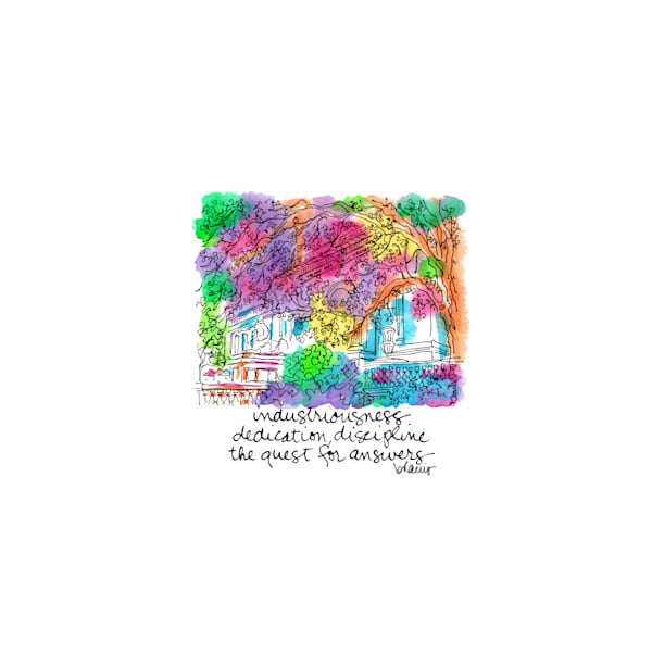 public library, new york city:  tiny haiku art prints in cheerful watercolor available for purchase online