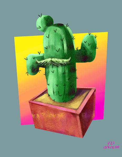 Mr. Cactus Art   Matt Pierson Artworks
