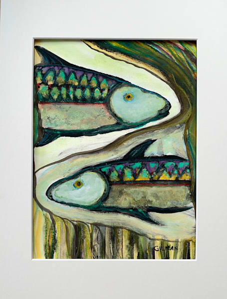 """Pisces"" Original Mixed Media artwork by Emily Gilman Beezley"