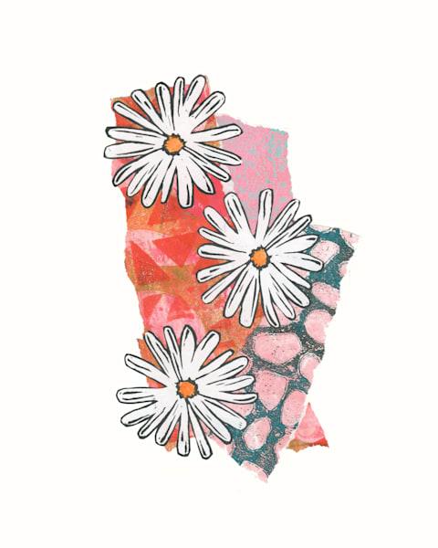 Three Daisies Art | Jennifer Akkermans