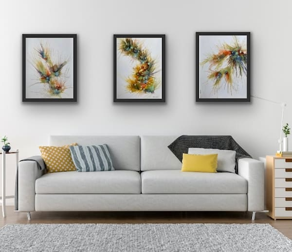 Abundance Series #6, 7, & 8 Art | TEMI ART, LLC.