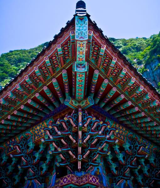 Korean Temple Roof Photography Art   nathanmurray