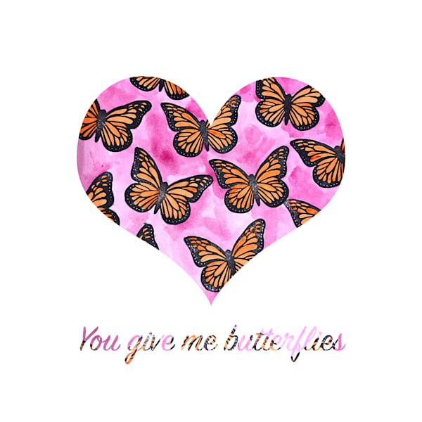 You Give Me Butterflies Art   Jennifer Akkermans