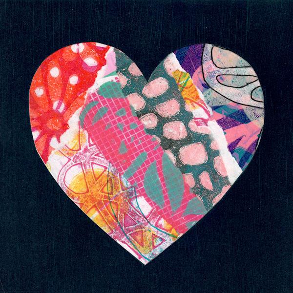 Patchwork Heart Art   Jennifer Akkermans