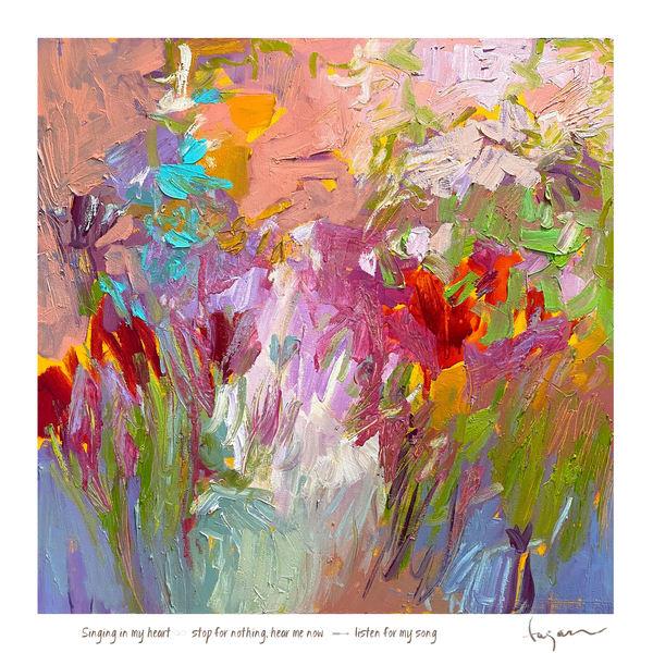 Singing In My Heart Haiku Print Art | Dorothy Fagan Joy's Garden
